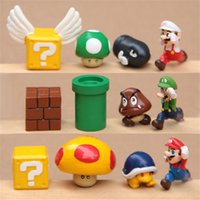 article set - 12 Pc Super Mario Brothers Figures Set yoshi dinosaur furnishing articles resin hand to do the micro landscape garden Toys