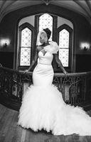 africa big - South Africa Wedding Dresses Sexy One Shoulder Big Bow Crystals Belt Ruffles Mermaid Wedding Gowns Fashion Bride Dresses