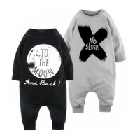 baby holloween costumes - Ins hot Baby printing long sleeve Jumpsuit Letter print NO SLEEP TO THE MOON Rompers for infants boys girls holloween Xmas costume