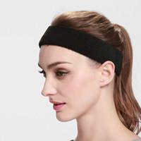 Wholesale DHL free Fashion Women Men Sport Sweat Sweatband Headband Yoga Gym Stretch Head Band Hair Badminton Grip