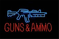ammo sign - NEON SIGN For GUNS AND AMMO Custom Store Display Beer Bar Pub Club Lights Signs Shop Decorate Real Glass Tube Bulbs