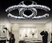 amber chandelier crystals - Modern W W W LED Crystal Chandelier Light AC90 V for Restaurant Decoration Lamp Silver Amber Flush Mount LED Ceiling Light fixtures