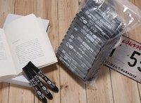 Wholesale 100pcs black colour marker pen set oil mark pen set factory price cheap oily marker pen