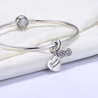 autumn forever - 2016 autumn Sterling Silver Charms Eight Heart Forever Friend Letter Pendant Dangle Beads fit for Pandora Bracelets Women Jewelry