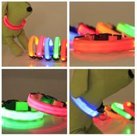 Regalos de Navidad Perro llevado collar caliente XS / S / M / L / XL para Snoopy LED Flashing Glow LED suministros para mascotas Collar de perro Collar de perros pequeños