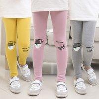 baby s pink eye - Girls Pants Children Trousers Autumn Winter New Baby Girls Leggings Big Eye Pattern Kids Leggings for Girls