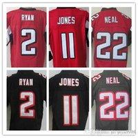 Wholesale Best quality jersey Men s Matt Ryan Julio Jones Keanu Neal elite jerseys Stitched jersey Red and Black Size