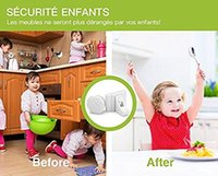 baby proofing cabinets - Goeco Child Cabinet Cupboard Locks Locks Key Magnetic Adhesive Baby Proofing Cabinet Drawer Safety Locks No Drilling Needed