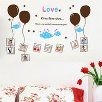 balloon wall framing - Love Balloon Photo Frame Wall Stickers Decorative Wall Decals Cartoon Wallpaper for Birthday Party Kids Room Nursery