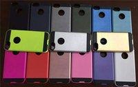 al por mayor iphone plástico de silicio-100 PC de la capa dual de la armadura caso híbrido para la caja dura plástica del teléfono del silicón del iphone 7 7plus TPU para el iPhone 5S 6 6s más s7 borde del s7 cubierta trasera