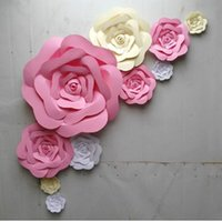 activities white roses - 10pcs set Large Simulation Cardboard Paper Rose Flowers Showcase Wedding Backdrop Background Backdrops Activities Decoration Stage Props