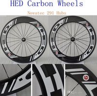 Wholesale 2016 Hot Sale HED Carbon Wheels mm With Novatec hubs Bike Wheelset C K Weave Matt Finish Carbon Road Wheelset with Quick Release