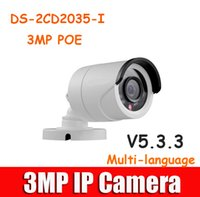 Wholesale Hikvision DS cd2035 i to replace DS CD2032F I Outdoor IP Camera mm lens P MP IR Bullet IP camera POE V5