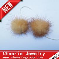 Wholesale 3cm mink fur balls for decoration genuine mink fur Pom Pom balls set
