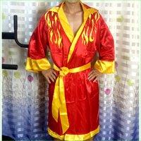 al por mayor cajas del traje-Man Boxing Robes Sanda Capa de entrenamiento Capa de rendimiento Hombre