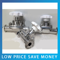 Wholesale GB Standard One way flow High Temperature Sanitary Stainless Steel Manual Threaded Diaphragm Valve DN51 High Quality