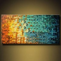 Wholesale Pure Handicrafts Modern Abstract Home Wall Decor Art Oil Painting On High Quality Canvas in custom sizes