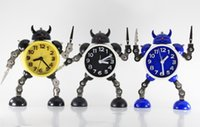 Wholesale Robot Alarm Clock Creative Clock with Clip Home Decor Children Gift