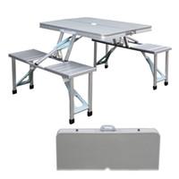 Wholesale Garden Aluminum New Outdoor Portable Seats Folding Camping Picnic Table