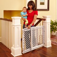 baby pet safety gate - Adjustable Plastic Safety Gate Pet Child Baby Mountable Safe Home Stairs NEW