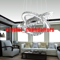 beach dining - Modern LED Crystal Chandelier led Ring Diamond K9 Pendant lamps lighting For Beach House Bedroom Dining Room AC110 V LED SMD Crystal Ce