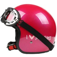 Open Face PP/Plastic Unisex TT#27 Taiwan S-Y-C Free Shipping Ultralight Bicycle Half Face Motorbike Scooter Motorcycle Bright Rose MY BIKE Helmet & UV Glasses Adult