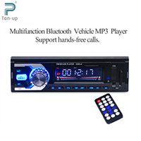 Wholesale car dvd FM Car Radio V Bluetooth V2 Auto Audio Stereo SD MP3 Player AUX USB Hands free Call Car Electronics Subwoofer with Remote