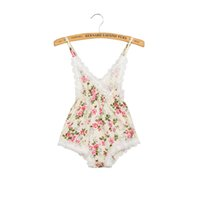 Wholesale Children Summer Clothing European Style Sleeveless Infant Baby Lace Rompers Newborn Baby V necl Lace Backless One piece Jumpsuit