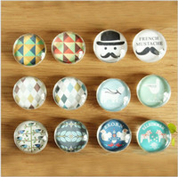 Wholesale NEW style Fridge Magnet Sticker restoring ancient ways with Glass material Beautiful design Fashion Crystal Glass Fridge Magnets for gifts