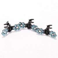 beauty clip pin - Fashion Bridal Hair Accessories Barrettes Flower Shiny Clear Crystal Set Pearl Wedding Bridal Hair Pins for Beauty Fit Party