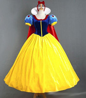 Wholesale Adult snow white halloween costumes for women Snow White Princess Costume Women Sexy Dress Cosplay Costume lady girls christmas dress up
