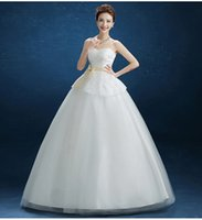 Wholesale The new spring and autumn Korean version of sweet princess bride wedding dress was thin and elegant dress