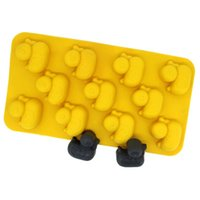 Wholesale 11 little ducks ice mold chocolate ice lattice box mold