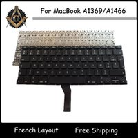 Wholesale Original New FR French AZERTY Keyboard for Macbook Air A1369 A1466 French Keyboard Year