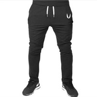Wholesale 2017 Men GASP GOLDS Sports Gym Pants Casual Elastic cotton Mens Fitness Workout Pants skinny Sweatpants Trousers Jogger Pants