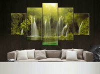 beautiful waterfall pictures - 5 Panel Modern Painting Home Decorative Art Picture Paint on Canvas Prints beautiful and spectacular waterfalls F