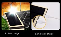 Wholesale Newest super alloy thin mm mobile solar charge USB charge power bank high capacity mAh double USB output with LED light