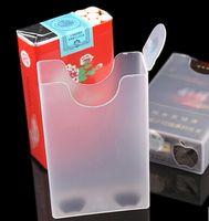 Wholesale Creative personality men soft shell ultra thin moistureproof prevent pressure cigarettes cigarette box transparent plastic cigarette case