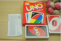 Wholesale 2016 New g UNO Card Game Playing Cards Standard Version Family Party Funny Entertainment Board Game