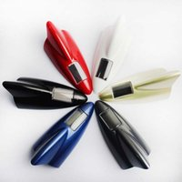 auto side vents - New arrival auto external lights solar car shark solar warning light gills side vent high quality