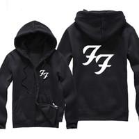 american standard music - American Rock Music Foo Fighters Logo Zipper Hoodie Men Winter Clothing Male Print Zip Shirt Hoodies And Sweatshirts Hood Hooded
