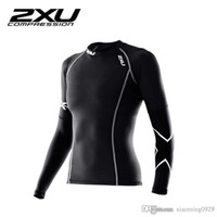 Wholesale 2XU compression garment summer women cultivate one s morality tight t shirts long sleeved outdoor fitness running speed dry clothing