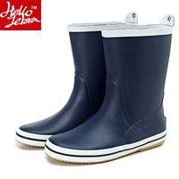 adult rain boots - Men s Rain Boots Fashion Rubber Waterproof Rainboots Boy Matt Shoes Rainday Water Shoes Mid Calf Adult Shoes Skid New Rubber galoshes