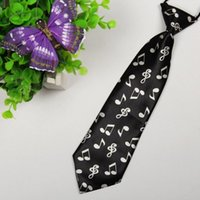 Wholesale Size cm cm Individuality Music notation Patterned tie child fashion cute baby ties