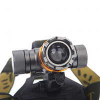 Wholesale CREE XM L T6 Lumens Modes Waterproof Adjust Zoomable Focus Led Headlight Hunting Spotlight Head Lamp Colorful Bike Light