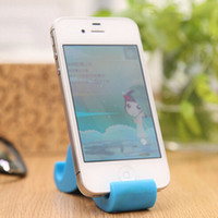 apple shaped candy - Mustache Shape Novelty Cell Phone Holder Candy Color Mobile Support Kawaii Phone Holder Cute Tablet Holder Cellphone Stands H068