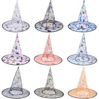 Wholesale Halloween witch hat mage cap the cowled wizards hat cap Children Holiday Gifts free DHL shipping