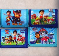 Wholesale Hot New Cartoon Style Free P P PAW PATROL Kids Purse paw patrol snow slide Wallet Kids Birthday Children Gift