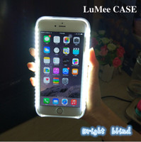 apple mobile phone service - Luminous mobile phone case for iPhone6p sp self timer artifact Self service pictures fill light Hot seller