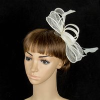 artistic hair - 17 colors artistic sinamay material fascinator headpiece party hair accessories church hat suit for all season MYQ072